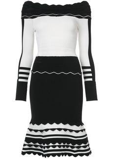 Yigal Azrouel striped knit dress - Black