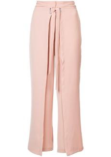 Yigal Azrouel tie front wrap pants - Pink & Purple
