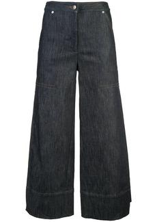 Yigal Azrouel wide-leg denim culottes - Blue