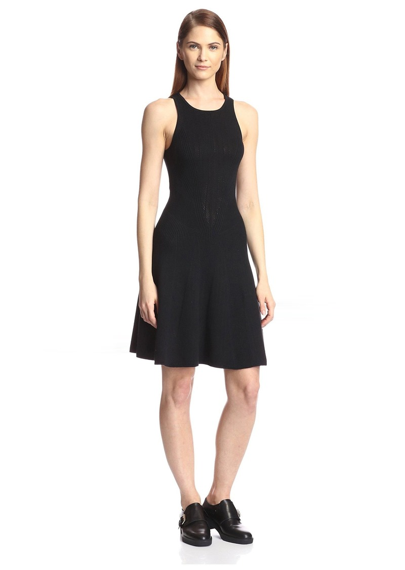 Yigal Azrouel Women's Knit Fit-and-Flare Dress  M