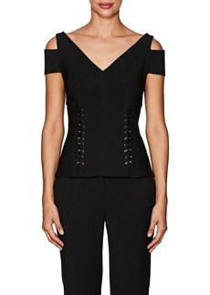 Yigal Azrouel Women's Lace-Up Cold-Shoulder Top