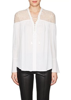 Yigal Azrouel Women's Lace-Up Silk Blouse