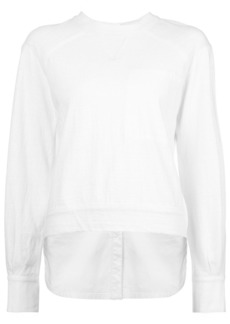 Yigal Azrouel woven sweatshirt - White