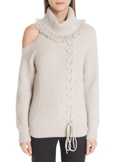 Yigal Azrouel Yigal Azrouël Cable Knit Cashmere Turtleneck Sweater