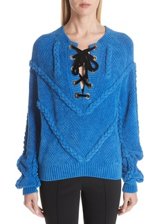 Yigal Azrouel Yigal Azrouël Cable Knit Chenille Sweater