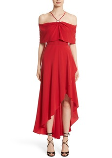 Yigal Azrouel Yigal Azrouël Cold Shoulder Silk Crepe Dress