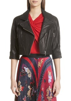 Yigal Azrouel Yigal Azrouël Crop Leather Moto Jacket