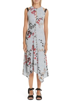 Yigal Azrouel Yigal Azrouël Découpe Floral Print Crepe Dress