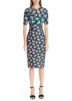 Yigal Azrouel Yigal Azrouël Floral Print Scuba Body-Con Dress