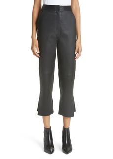 Yigal Azrouel Yigal Azrouël Leather Front Crop Flare Pants