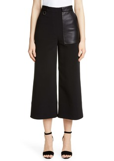 Yigal Azrouel Yigal Azrouël Leather Pocket High Waist Crop Pants