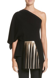Yigal Azrouel Yigal Azrouël One-Shoulder Pleated Crepe Top