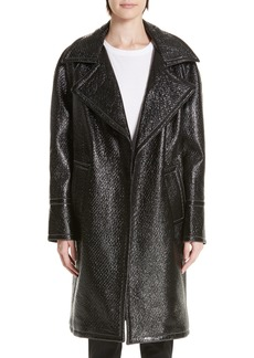 Yigal Azrouel Yigal Azrouël Oversized Laminated Tweed Coat