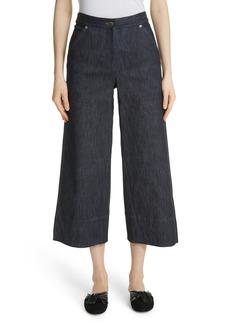 Yigal Azrouel Yigal Azrouël Panel Front Wide Leg Crop Jeans