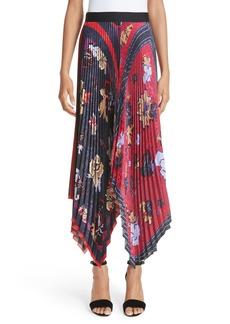 Yigal Azrouel Yigal Azrouël Pleated Handkerchief Hem Skirt