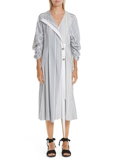 Yigal Azrouel Yigal Azrouël Ruched Stripe Shirtdress