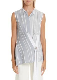 Yigal Azrouel Yigal Azrouël Stripe Wrap Shirt