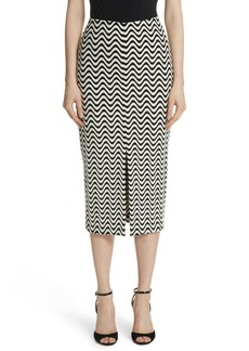 Yigal Azrouel Yigal Azrouël Wave Pattern Body-Con Skirt