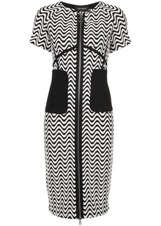 Yigal Azrouel zip-front wave pattern dress