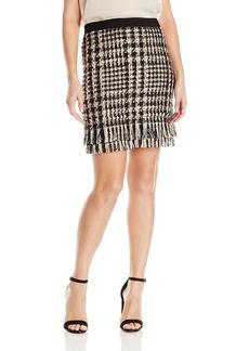 Yoana Baraschi Women's Monmartre Plaid Fringe Mini Skirt