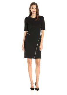 Yoana Baraschi Women's Odeon Compression Knit Zip Dress