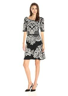 Yoana Baraschi Women's Palais Royal Reversible Flare Sweater Dress