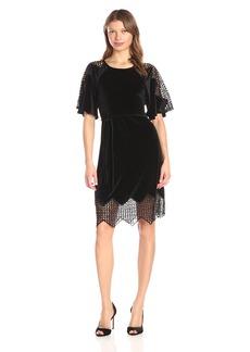 Yoana Baraschi Women's Velvet Undergroud Mini Dress  L
