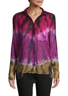 Young Fabulous & Broke Abstract-Print Long-Sleeve Shirt