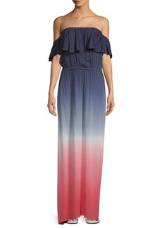 Young Fabulous & Broke Ayana Off-The-Shoulder Ombre Maxi Dress