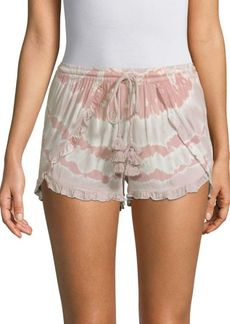 Young Fabulous & Broke Coral Tassel Shorts