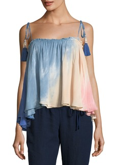 Young Fabulous & Broke Indi Tassel-Tie Ombre Swing Top