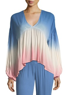 Young Fabulous & Broke Kendra V-Neck Ombre Top