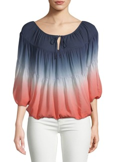 Young Fabulous & Broke Ombre Puffed-Sleeve Top