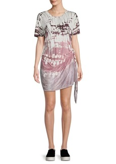 Young Fabulous & Broke Printed Self-Tie Mini Dress