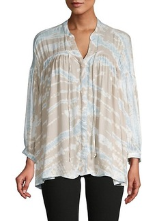 Young Fabulous & Broke Printed Tie-Front Top