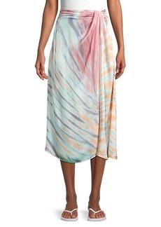 Young Fabulous & Broke Savanna Tie-Dye Faux-Wrap Skirt
