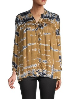 Young Fabulous & Broke Tie-Dyed Long-Sleeve Top