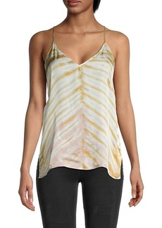 Young Fabulous & Broke Tie-Dyed V-Neck Top