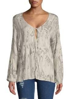 Young Fabulous & Broke Ayla Long-Sleeve Blouse
