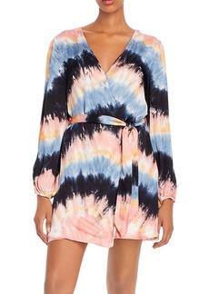 Young Fabulous & Broke Bettina Tie-Dye Wrap Dress
