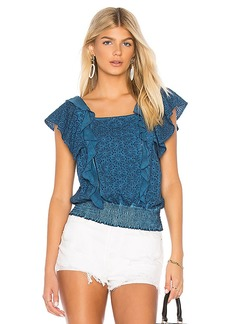 Young Fabulous & Broke Young, Fabulous & Broke Eyelet Ruffle Top