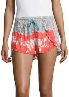 Young Fabulous & Broke Printed Drawstring Shorts