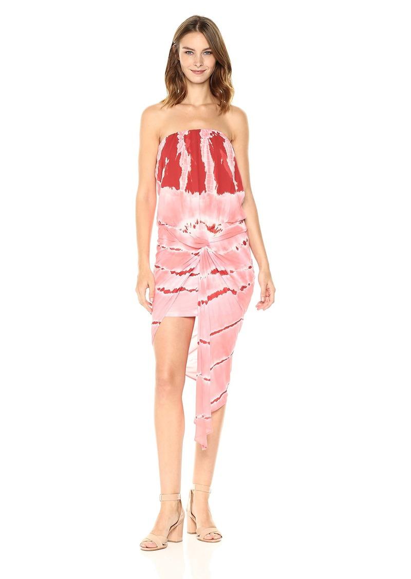 Young Fabulous & Broke Women's Kauai Dress hot Orange Stripe wash M