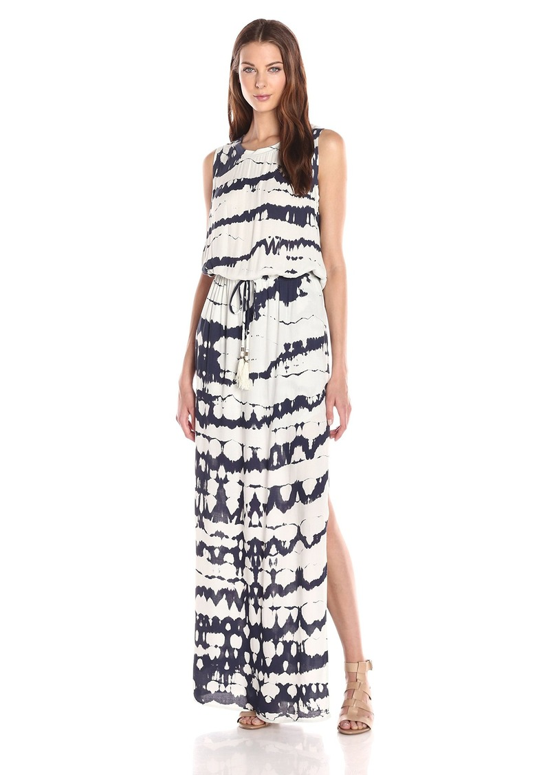Young Fabulous & Broke Women's Leah Crocodile Open Back Sleeveless Maxi Dress
