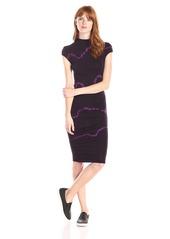 Young Fabulous & Broke Women's Nora Streaky Wash Mock Neck Dress