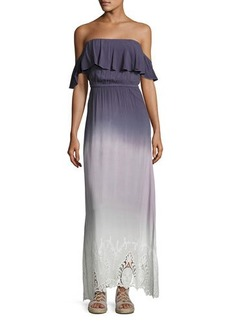 Young Fabulous and Broke Aidy Off-The-Shoulder Ombre Maxi Dress