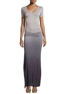 Young Fabulous and Broke Bentley Ruched Ombre Maxi Dress