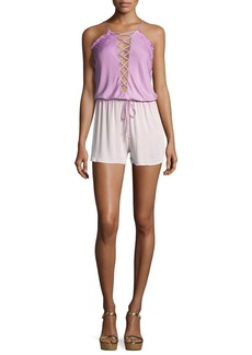 Young Fabulous & Broke Young Fabulous and Broke Deflano Lace-Front Romper