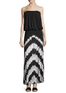 Young Fabulous and Broke Sydney Strapless Chevron-Striped Maxi Dress
