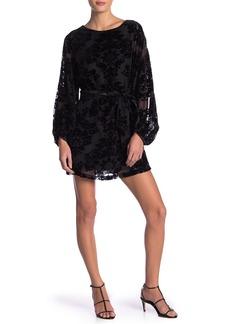 Yumi Kim Bellflower Flocked Velvet Dress